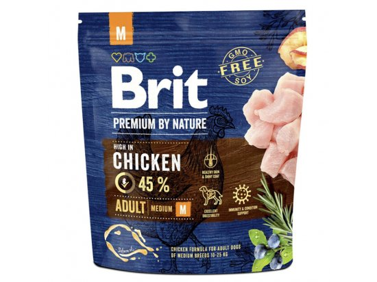 Brit Premium Adult Medium М - корм для взрослых собак средних пород