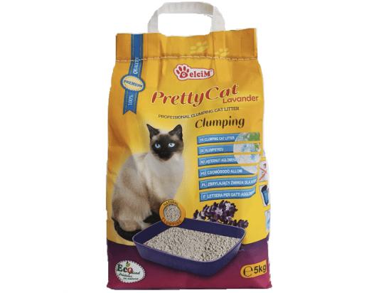 Pretty Cat (Претти Кет) Lavander наполнитель бентонитовый с ароматом лаванды, 5 кг