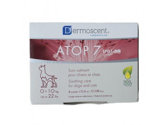 Dermoscent (Дермосент) ATOP 7 spot-on Успокаивающее капли при атопии и аллергии кожи кошек и собак весом до 10 кг (4пип.*0,6мл)