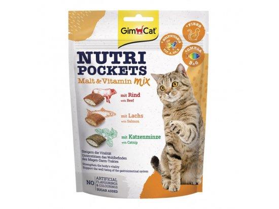 Gimсat NUTRI POCKETS MALT VITAMIN MIX (АССОРТИ МИКС ВИТАМИННЫЕ ПОДУШЕЧКИ) лакомство для кошек