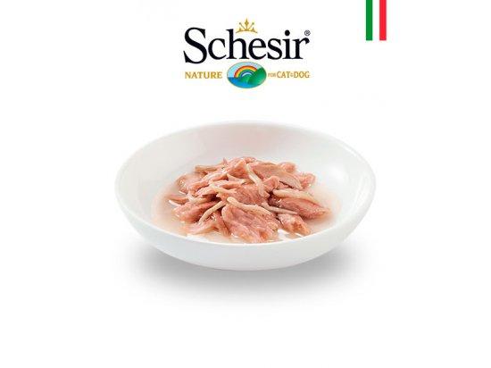 Schesir (Шезир) консервы для кошек с Тунцом, мальком и рисом