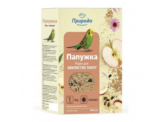 Природа Папужка Йод +Ехінацея - Корм для волнистых попугаев, 500 г