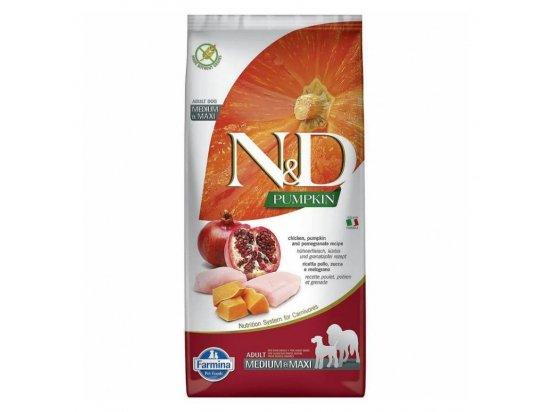 Farmina (Фармина) N&D Grain Free Pumpkin Chicken & Pomegranate Adult Medium & Maxi корм для собак средних/крупных пород КУРИЦА, ТЫКВА, ГРАНАТ