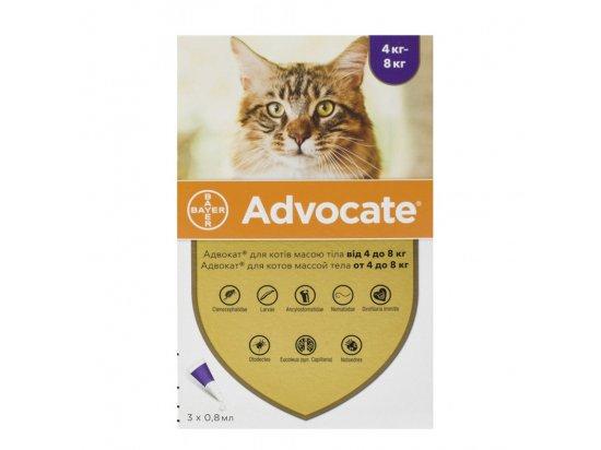 Bayer Advocate (Адвокат) спот-он капли от блох, чесоточных клещей, профилактика дирофиляриоза для кошек
