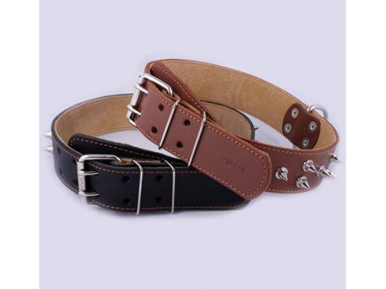 Collar (Коллар) ДВОЙНОЙ С ШИПАМИ ошейник для собак, кожа