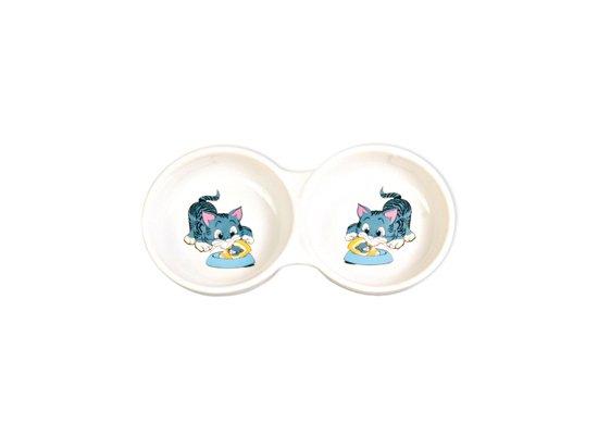 TRIXIE Миска двойная керамическая для кошки (4014)