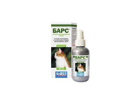 Спрей противопаразитарный «Барс» для кошек, 100 мл