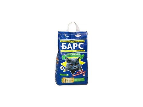 БАРС №1 крупный - впитывающий наполнитель для кошачьего туалета, 5 кг