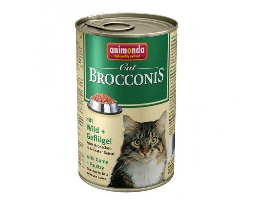 Animonda (Анимонда) Brocconis Cat mit Wild+Guflügel - консервы для кошек с ДИЧЬЮ и ДОМАШНЕЙ ПТИЦЕЙ, кусочки в соусе 400 г