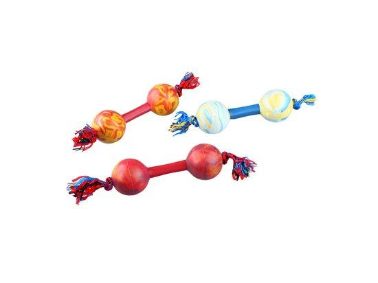 Sum-Plast Гантель ароматизированная на шнурке - игрушка для собак