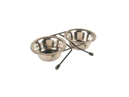 TRIXIE Подставка с мисками для кошек и мелких пород собак