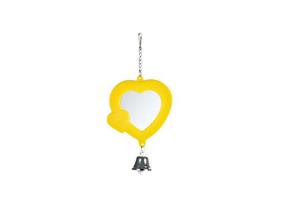 Trixie Зеркало с колокольчиком `Сердечко` для попугаев (5202)