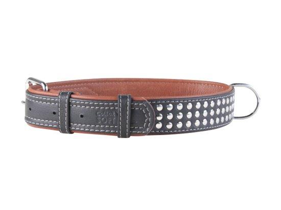 Collar SOFT - кожаный ошейник с заклепками для собак