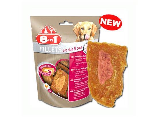 8in1 Fillets Pro Skin & Coat – Лакомства для собак для блестящей шерсти
