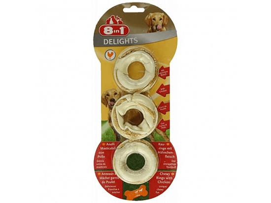 8in1 (8 в 1) DELIGHTS RINGS Жевательные кольца с мясом - лакомства для собак