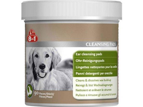 8in1 (8в1) Ear Cleansing Pads - очищающие салфетки для ушей для собак, 90 шт.