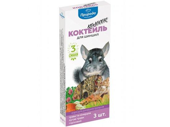Колосок Коктейль - Лакомство для шиншил 3в1 (луговые травы, минералы, орех), 3 х 30 г