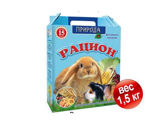 Рацион - Корм для средних грызунов 1,5 кг