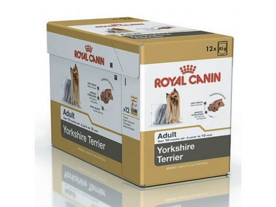 Royal Canin YORKSHIRE TERRIER ADULT (ЙОРКШИР ТЕРЬЕР ЭДАЛТ) влажный корм для собак старше 10 месяцев (паштет)
