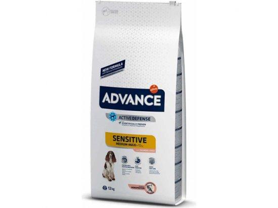 Advance (Эдванс) Dog Sensitive Medium-Maxi Salmon & Rice - корм для взрослых собак, склонных к пищевой аллергии