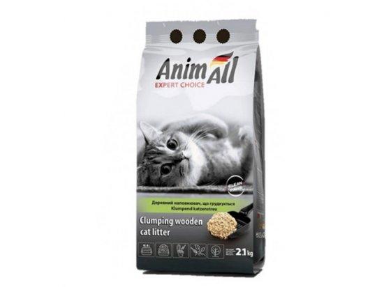 AnimAll - Древесный КОМКУЮЩИЙСЯ наполнитель для кошачьих туалетов без аромата, 2,1 кг (СКИДКА 10%)