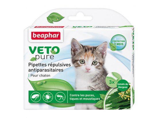 Beaphar - Капли Био от блох, клещей и комаров для котят (1уп./3шт.)