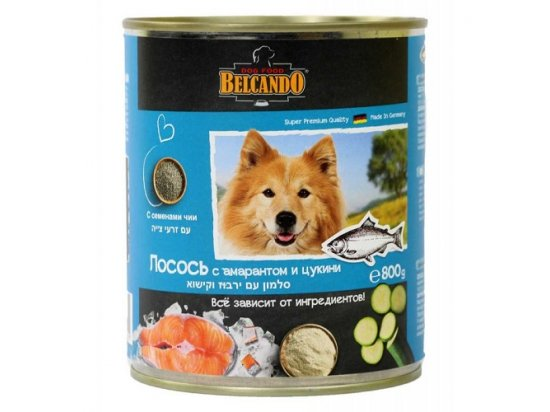 Belcando ЛОСОСЬ С АМАРАНТОМ И ЦУКИНИ - консервы для собак