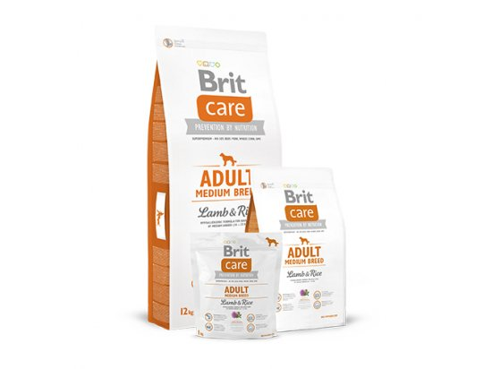 Brit Care Adult Medium Breed Lamb & Rice - Корм для собак средних пород с ягненком и рисом
