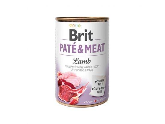 Brit PATE & MEAT LAMB (ЯГНЕНОК В ПАШТЕТЕ) консервы для собак 400 г