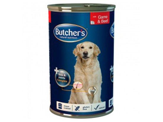 Butcher`s (Бутчерс) PLUS BEEF&GAME (ГОВЯДИНА И ДИЧЬ) консервы для собак