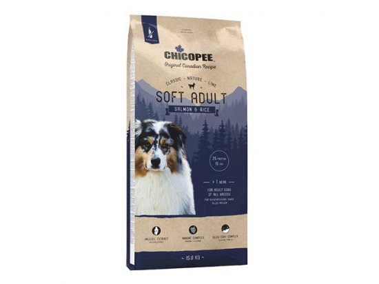 Chicopee CNL ADULT SOFT SALMON & RICE сухой корм для собак всех пород ЛОСОСЬ И РИС