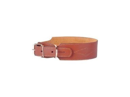 Collar Кожаный ошейник для собак двойной с прошивкой РОМБЫ, длина 38-50 см (СКИДКА 25% - РАСПРОДАЖА)