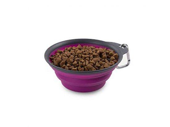 DEXAS Collapsible Travel Cup-Large - Миска складная дорожная с карабином для собак и кошек БОЛЬШАЯ