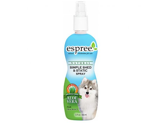 ESPREE (Эспри) Simple Shed & Static Spray Спрей-антистатик от выпадения шерсти и зуда, 355 мл