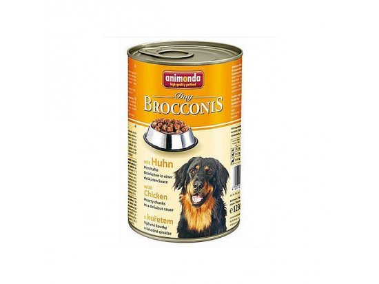 Animonda (Анимонда) Brocconis Dog mit Huhn - консервы для собак c КУРИЦЕЙ, кусочки в соусе 1240 г