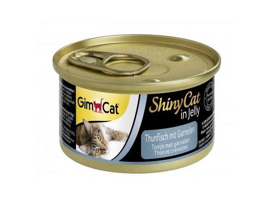 Gimcat Shiny Cat in jelly (ТУНЕЦ С КРЕВЕТКАМИ В ЖЕЛЕ) консервы для кошек