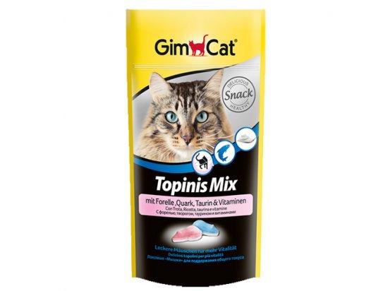 Gimcat TOPINIS MIX (МЫШКИ ТВОРОГ ФОРЕЛЬ) витаминизированное лакомство для кошек 40 г