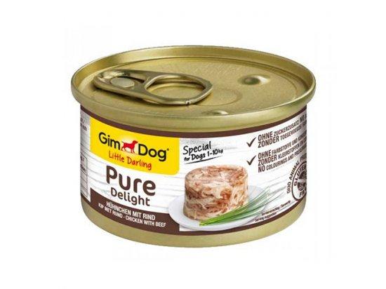 Gimdog Pure Delight CHICKEN & BEEF (КУРИЦА И ГОВЯДИНА) консервы для собак 85 г