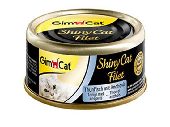 Gimcat Shiny Cat Filet (ТУНЕЦ С АНЧОУСАМИ ФИЛЕ) консервы для кошек