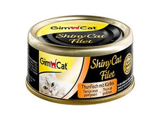 Gimcat Shiny Cat Filet (ТУНЕЦ С ТЫКВОЙ ФИЛЕ) консервы для кошек