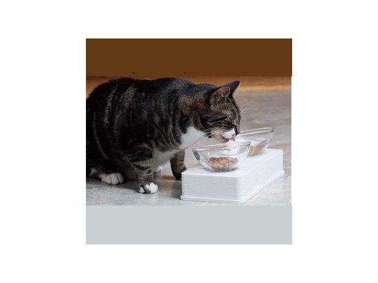 Hagen Catit Glass Dinner - Миски на подставке, набор для кошек