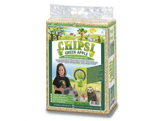 Chipsi (Чипси) Plus GREEN APPLE - опилки с ароматом зеленого яблока для грызунов