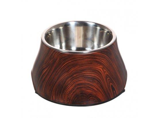 Hagen Металлическая миска для собак с отделкой под дерево (7377)