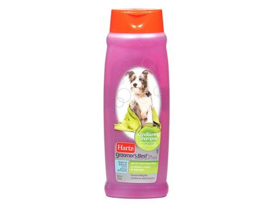 HARTZ (Хартц) Groomers Best 3 in 1 Conditioning Shampoo - Шампунь-кондиционер для длинношерстных собак с тропическими фруктами, 532 мл