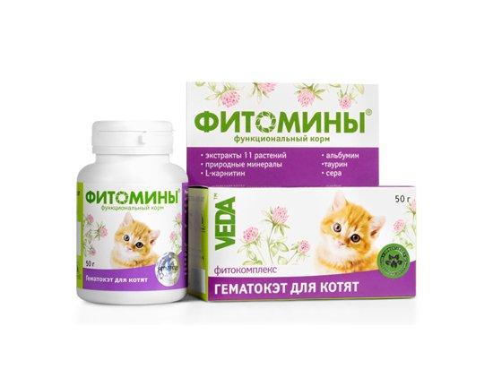 Veda Фитомины Гематокэт - фитокомплекс для котят и для взрослых кошек в период восстановления, 100 табл