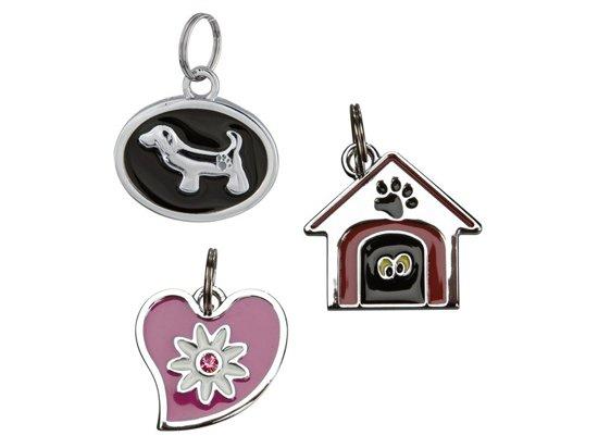 Trixie (Трикси) СОБАКА, ДОМИК, СЕРДЦЕ медальон-адресник для собак (2276)