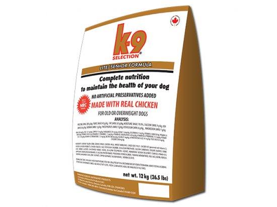 K9 Selection LITE SENIOR FORMULA сухой корм для пожилых собак 12 кг