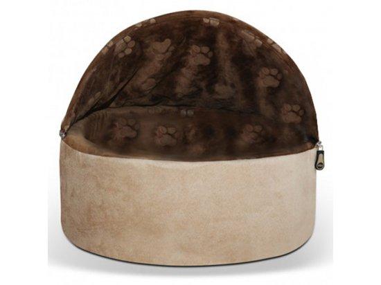 K&H Kitty Hooded домик-лежак самосогревающийся для котов