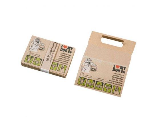 Flamingo BADS POOP SCOOPS пакет бумажный для сбора фекалий собак, 10 шт