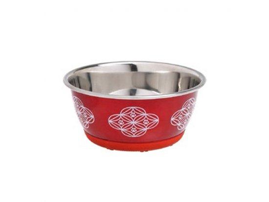 Flamingo BOWI SELECTA RED миска для собак и кошек, нержавеющая сталь